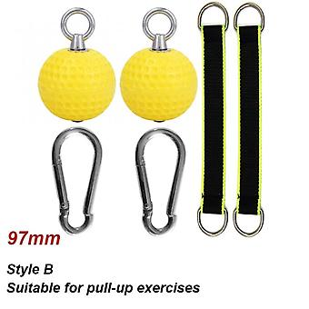 72/97mm Pull Up Balls For Arm Finger Muscles Strength Training  Gym Workout Hand Grip Fitness Climbing Power Ball Exerciser