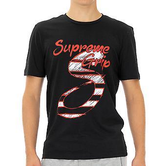 Supreme Grip Menn T-skjorte Charade Halvermet Svart