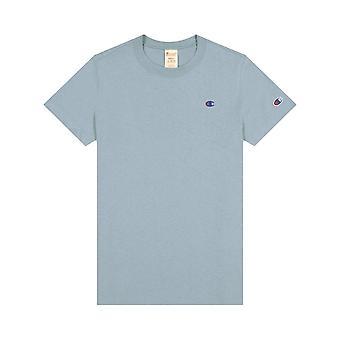 Champion Reverse Kudonta Pieni Logo Crewneck 113360BS032 universal ympäri vuoden naisten t-paita
