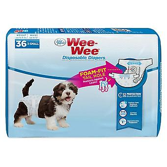 Four Paws Wee Wee Disposable Diapers X-Small - 36 count