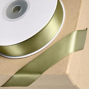 25m Moss Grøn 15mm Bred Satin Bånd til Håndværk