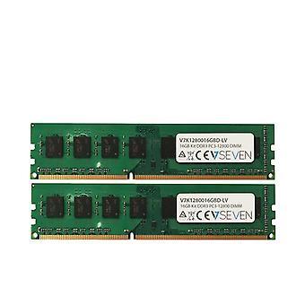 V7 V7K1280016GBD-LV, 16 Go, 2 x 8 Go, DDR3, 1600 MHz, DIMM 240 broches