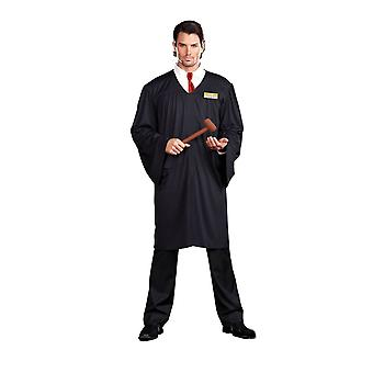 Judge adult costume court barrister lawyer fancy dress with robe one size new