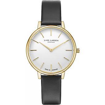 LLarsen (Lars Larsen Black Genuine Leather) 146GWBLLX Women's Watch