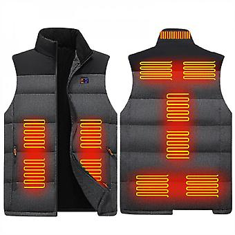 Electric Heated Vest Men Women, Thermal Heating Jacket Lightweight Usb Charging Body Warmer For Winter Outdoor