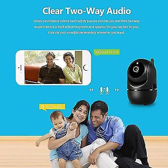 Security monitors recorders ip camera black smart home security surveillance camera 1080p cloud hd tracking network wireless