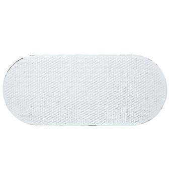 Bath mats rugs anti slip plastic oval bathtub shower mat with grip suction cups 69*36cm transparent