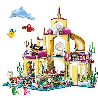 Age 3+, 360 pieces disney frozen princess elsa and anna building model blocks set for children(8)