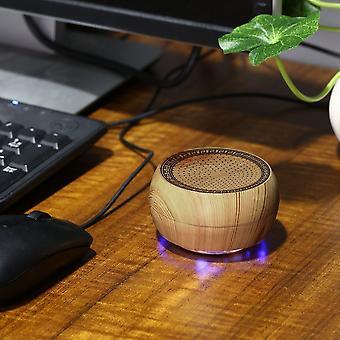 Bärbar Mini Trä Schack Trådlös Bluetooth Högtalare Stöd Tf Card Stereo