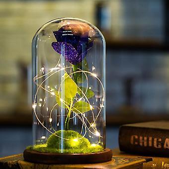 Romántico Rose Glass Decoración de bodas Decoración del hogar Regalo de vacaciones Azul oscuro