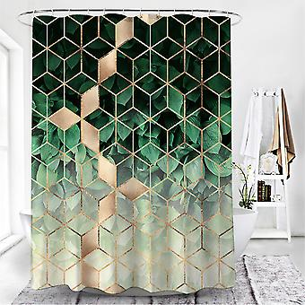 Moderno baño geométrico impermeable cortina de ducha