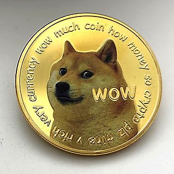 Amerikkalainen fyysinen doge-kolikko maalattu kullattu juhlakoli Kultakolikoli Juhlakoli
