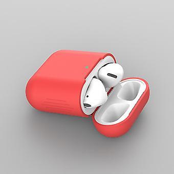 Silikagélové puzdro na AirPod 2/1 - Červené