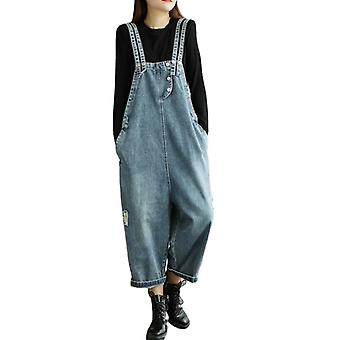 Woman Oversize Printed Overalls