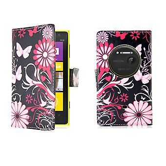 Design book PU leather case cover for Nokia Lumia 1020 - Gerbera