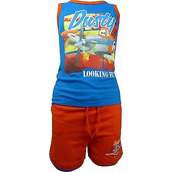 Garçons Disney Pixar Planes poussiéreux sans manches T-ShirtVest Top & Shorts Set OE1061