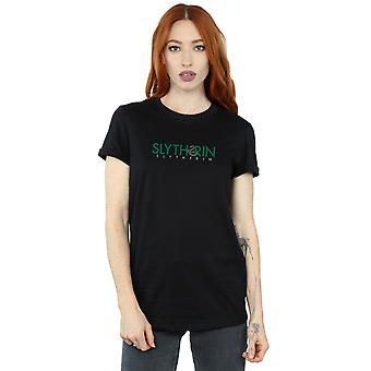 Harry Potter Women's Slytherin Text Boyfriend Fit T-Shirt