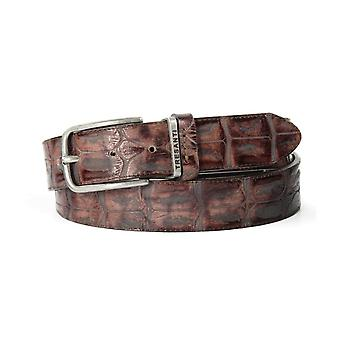 Tresanti Crocodile Print Mens Leather Belt