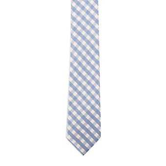 Knightsbridge Blue Gingham Silk Tie