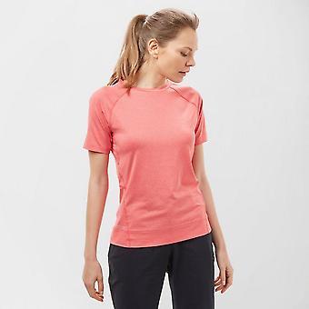 New Technicals Women's Short Sleeve Crew Neck Vitality Tee Pink