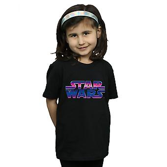 حرب النجوم البنات النيون تي شيرت الشعار
