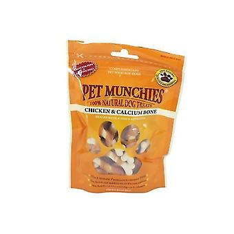 Pet Munchies Chicken and Calcium Bones 100g, pack of 8