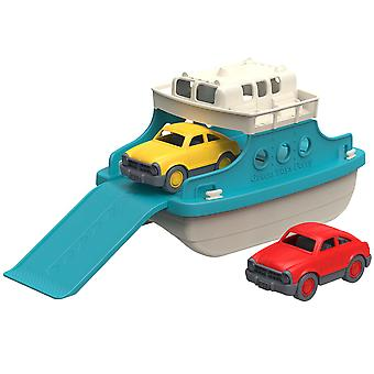 Green Toys Ferry Boat with Toy Cars Play Set Bath Water Pool 100% Recycled