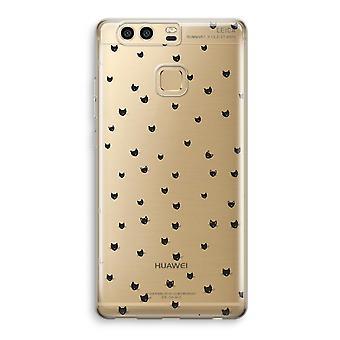 Huawei P9 gjennomsiktig sak (myk) - små kattene