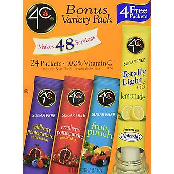 4C Totally Light to Go Sugar Free Bonus Variety Pack Drink Mix