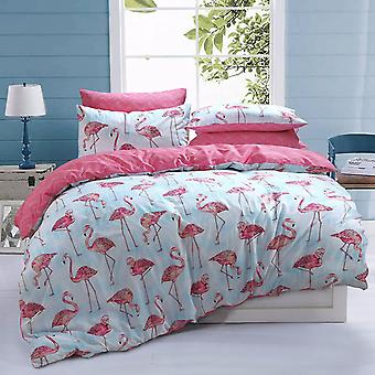 Pieridae Flamingo Stripe Duvet Cover Quilt Cover Bedding Set