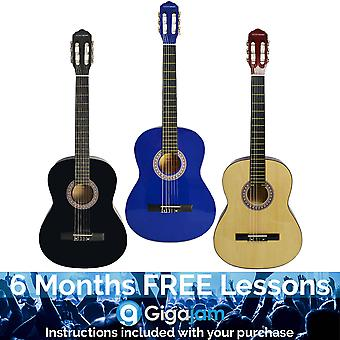 Rocket 4/4 Size Classical Spanish Guitars - Available in Blue or Natural