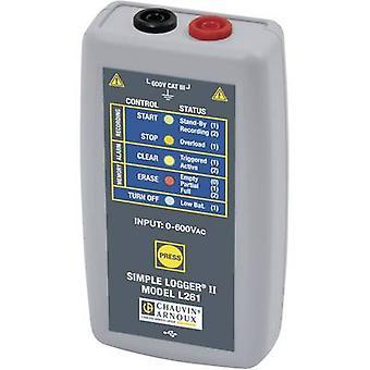 Chauvin Arnoux L261 spenning datalogger måleenheten spenning 0 opp til 600, 600 V AC, Vdc kalibrert produsenter standarder (ingen sertifikat)