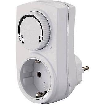 GAO 0793 Dimmer adapter geschikt voor gloeilampen: gloeilamp, halogeenlamp wit