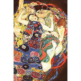 Gustav Klimt poster de Maagd