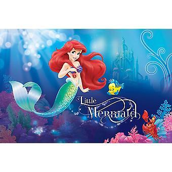 254x184cm ozdoba ścienna Disney Little Mermaid Ariel