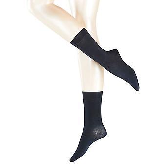 Falke Cachemira Sensual Midcalf calcetines - Marina de guerra