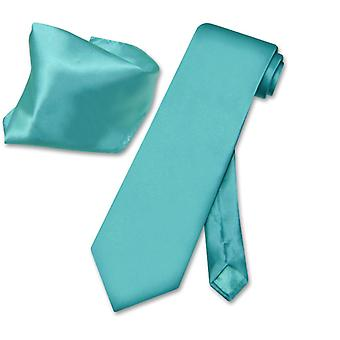 Biagio Solid 100% SILK NeckTie & Handkerchief Men's Neck Tie Set
