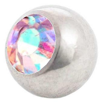 Lävistyksiä korvaaminen pallo, Aurora Borealis | 1,6 x 4, 5 ja 6 mm, Body korut