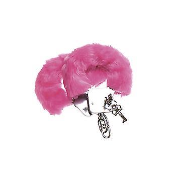 Harige handboeien - roze