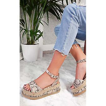 IKRUSH Womens Ava Flatform Sandals