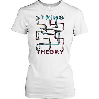 Teoría - camisa de las señoras T Cool Science la secuencia