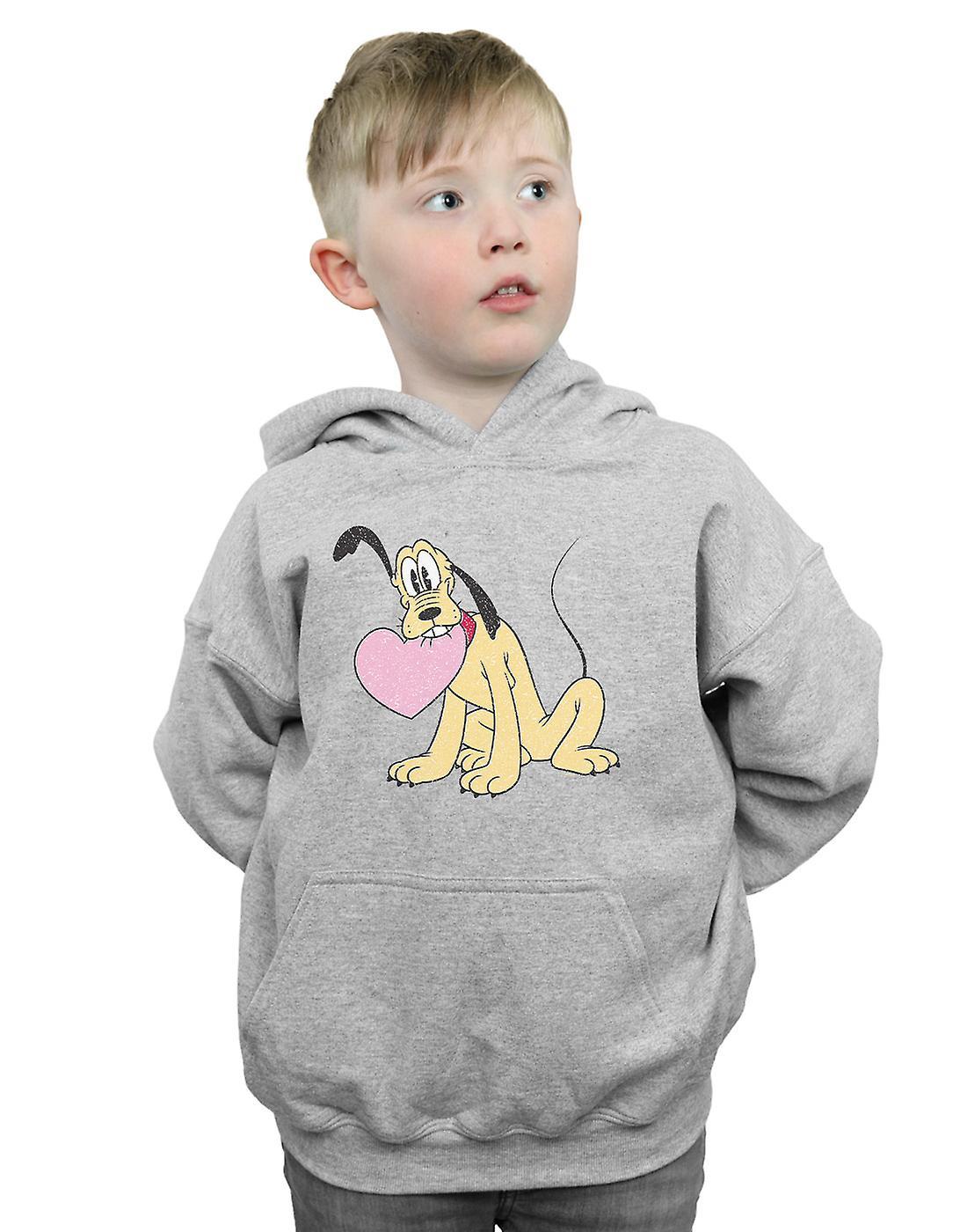 Disney Boys Pluto Love Heart Hoodie