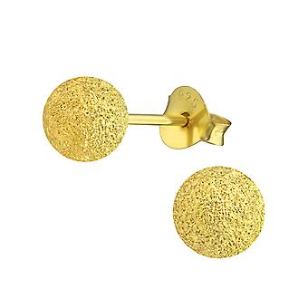 Ball - 925 Sterling Silver Classic Ear Studs - W13535x