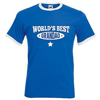 World's Best Grandad Tshirt Royal Blue with White