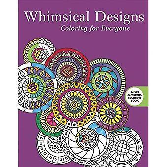 Nyckfull design: Färg för alla (kreativa avstressande vuxen målarbok)