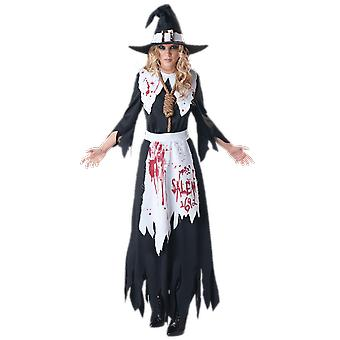 Womens Salem Witch Film Halloween Fancy Dress Costume