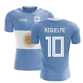 2020-2021 Argentina Flag Concept Fodbold shirt (Riquelme 10) - Børn