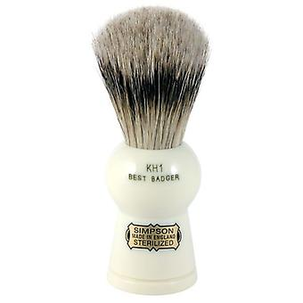 Simpsons Keyhole KH1 Best Badger Hair Shaving Brush Small - Imitation Ivory