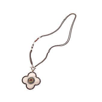 Intrigue femmes/dames fleur pendentif perlé