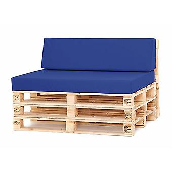 Gardenista® Blue Water Resistant Small Back Pad for Pallet Furniture